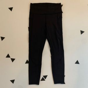 Lululemon size 6 running tights black